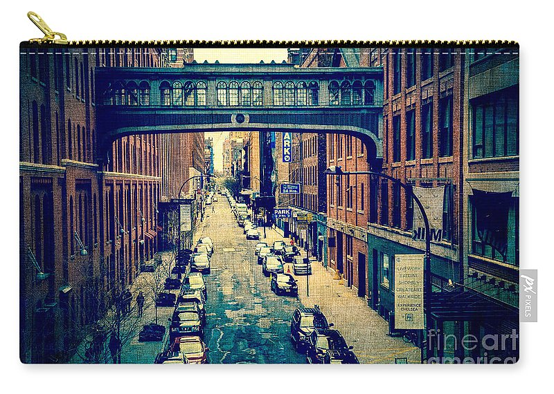 Architecture Carry-all Pouch featuring the photograph Chelsea Street As Seen From The High Line Park. by Amy Cicconi