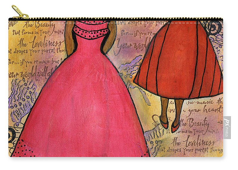 Women Carry-all Pouch featuring the painting Cherish The Music... by Angela L Walker