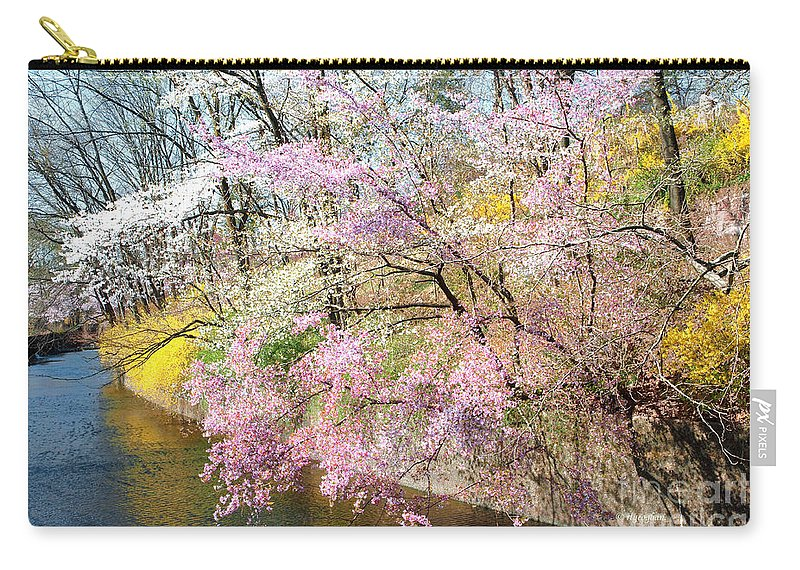 Cherry Blossoms Carry-all Pouch featuring the photograph Cherry Blossom Land by Regina Geoghan