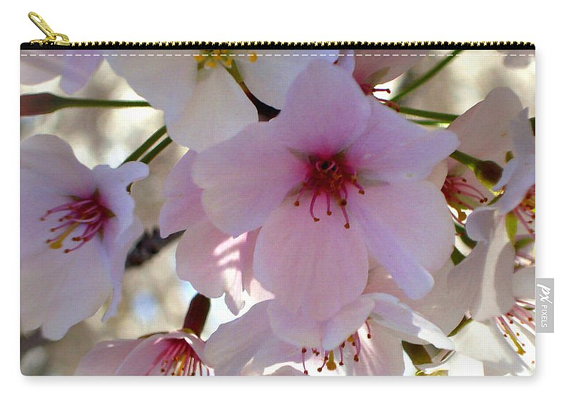 Cherry Blossoms Carry-all Pouch featuring the photograph Cherry Blossom by Roleen Senic