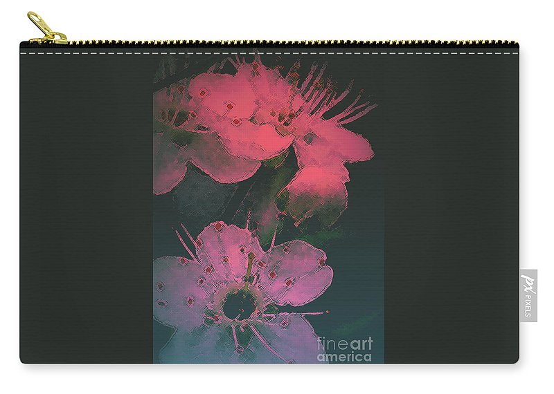 Lakes Region Art Carry-all Pouch featuring the photograph Cherry Blossom by Mim White