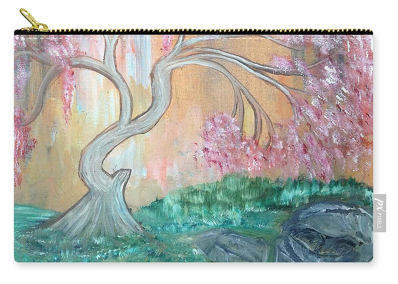 Flowers Carry-all Pouch featuring the painting Cherry Blossom by Suzanne Surber