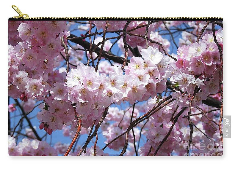Cherry Blossoms Carry-all Pouch featuring the photograph Cherry Blossom Trees Of Branch Brook Park 3 by Allen Beatty