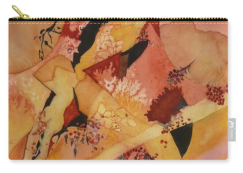 Flower Carry-all Pouch featuring the painting Cherry Blossoms by Eldora Schober Larson