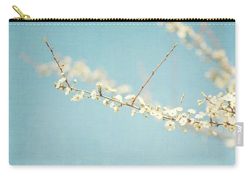 Lisa Knechtel Carry-all Pouch featuring the photograph Cherry Blossoms by Lisa Knechtel