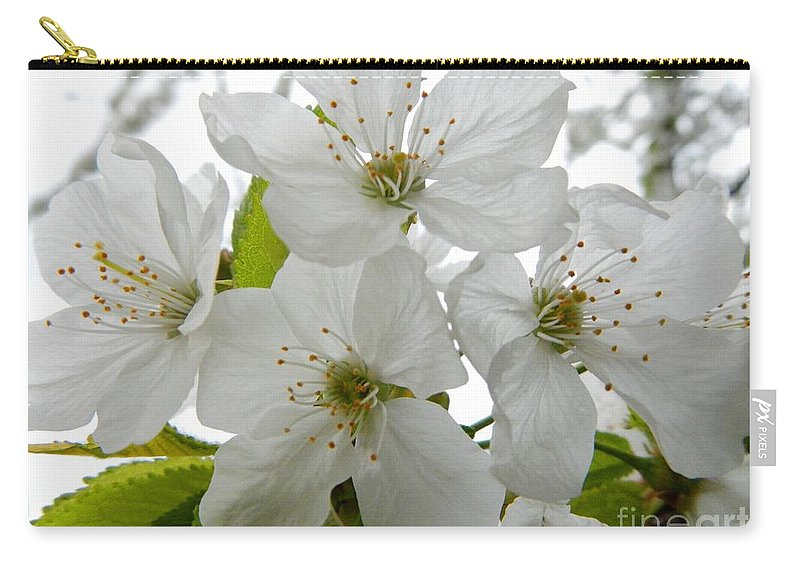 Flowers Carry-all Pouch featuring the photograph Cherry Blossoms by Loreta Mickiene