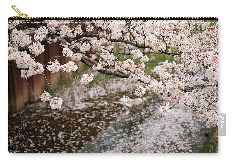 Season Carry-all Pouch featuring the photograph Cherry Blossoms by Photography By Zhangxun