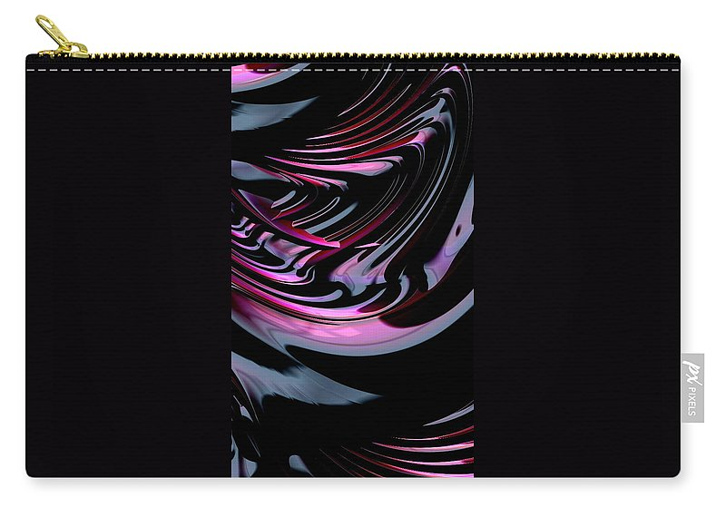 Cola fractal Art abstract Art girl's Fashion women's Fashion Cosmetics fashion Design Fashion Carry-all Pouch featuring the photograph Cherry Cola by Bill Owen