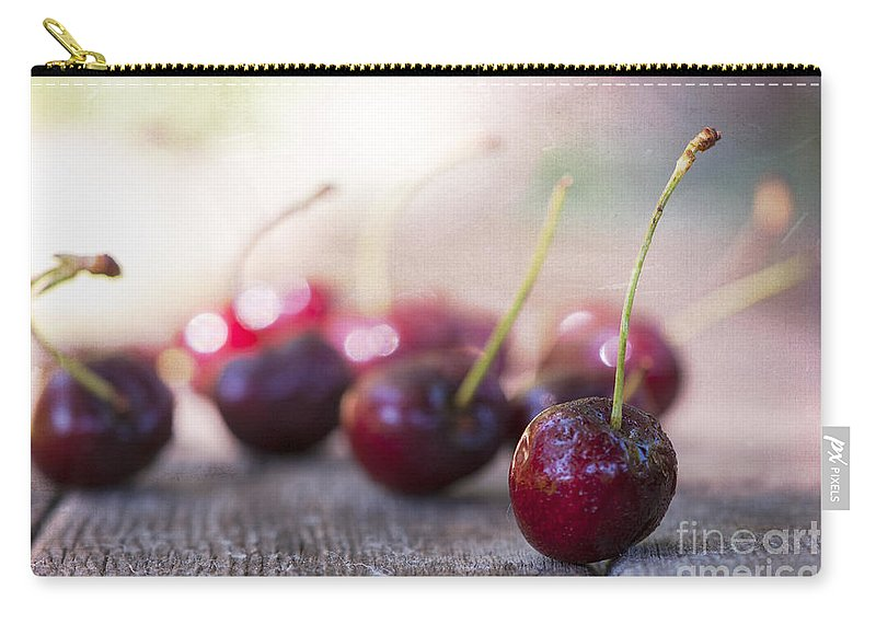 Bokeh Carry-all Pouch featuring the photograph Cherry Delites by Juli Scalzi