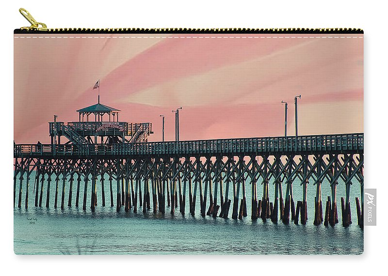 Cherry Grove Carry-all Pouch featuring the photograph Cherry Grove Fishing Pier by Trish Tritz