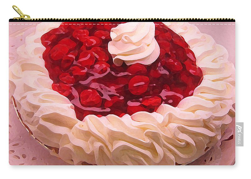 Still Life Carry-all Pouch featuring the painting Cherry Pie With Whip Cream by Amy Vangsgard