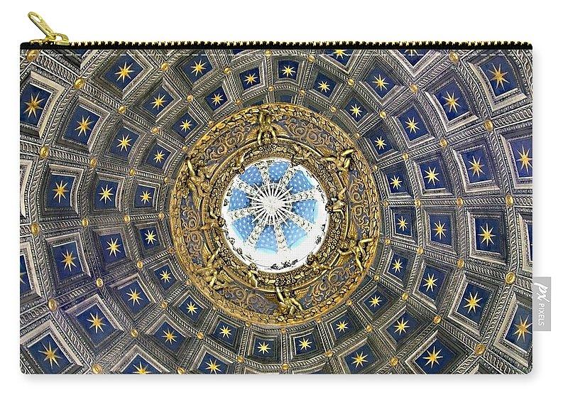 Cherubic Cupola Carry-all Pouch featuring the photograph Cherubic Cupola by Ellen Henneke
