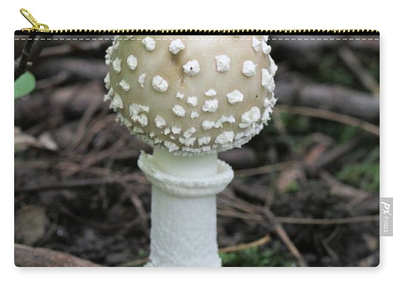 Mushroom Carry-all Pouch featuring the photograph Chess Piece In The Forest by Doris Potter