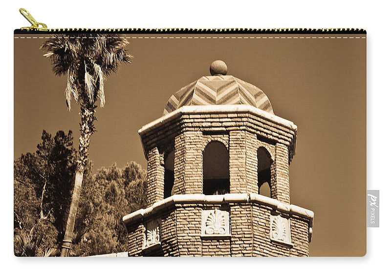 Chevron Carry-all Pouch featuring the photograph Cheveron Domed Tower 2 by Douglas Barnett