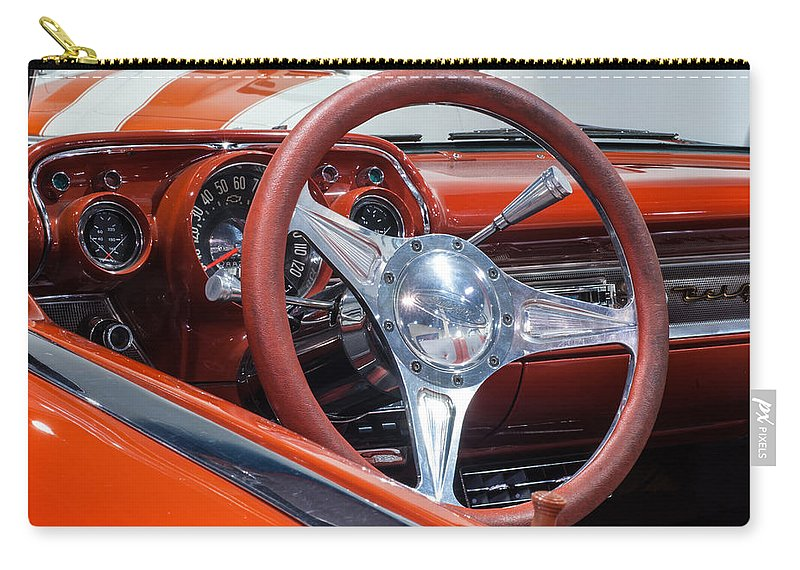 Chevrolet Bel Air Carry-all Pouch featuring the photograph Chevrolet Bel Air by George Buxbaum