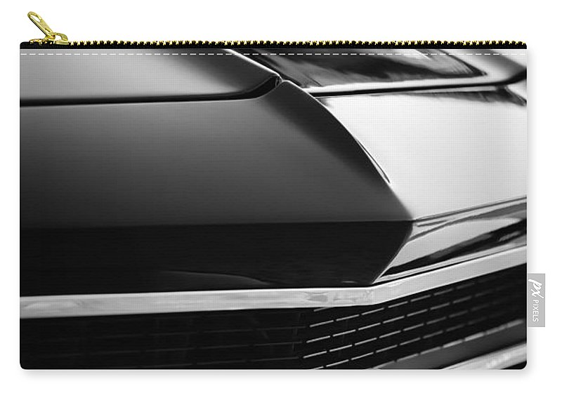 Chevrolet Chevelle Ss 398 Grille Emblem Carry-all Pouch featuring the photograph Chevrolet Chevelle Ss 398 Grille Emblem by Jill Reger