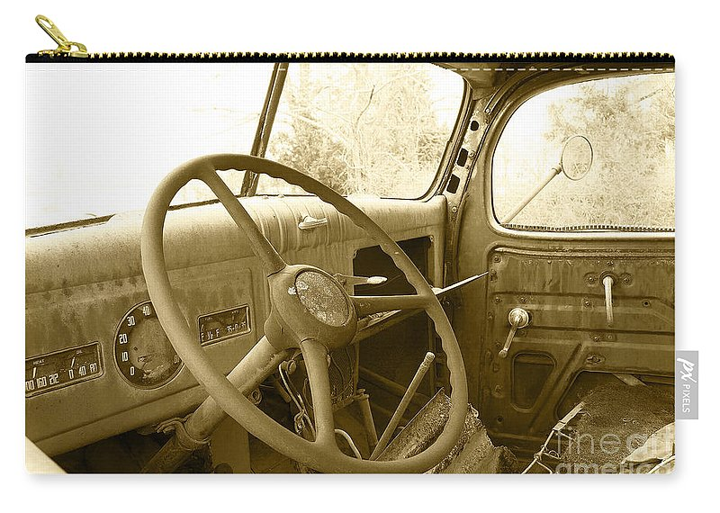 Chevy Carry-all Pouch featuring the photograph Chevy Cab by Rob Hawkins