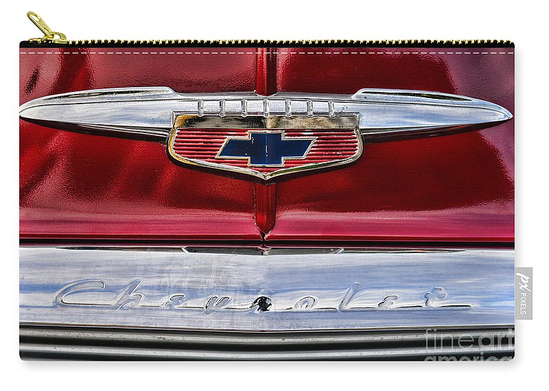 Paul Ward Carry-all Pouch featuring the photograph Chevy Truck Logo Vintage by Paul Ward