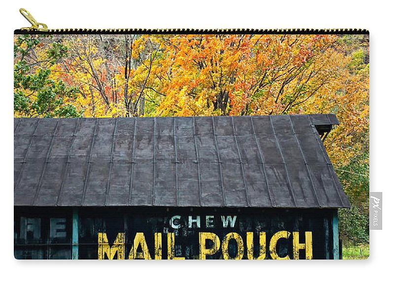 West Virginia Carry-all Pouch featuring the photograph Chew Mail Pouch 2 by Steve Harrington