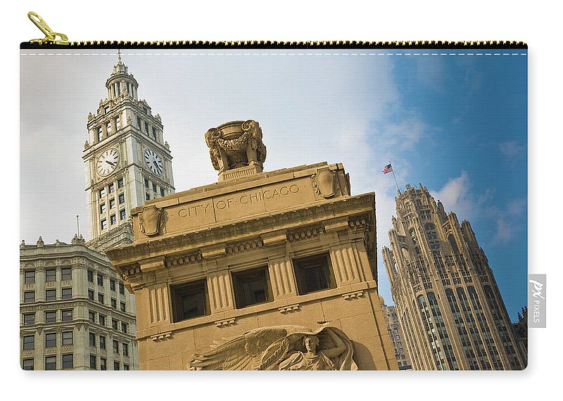 Relief Carving Carry-all Pouch featuring the photograph Chicago by Jmsilva