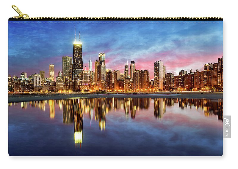 Tranquility Carry-all Pouch featuring the photograph Chicago by Joe Daniel Price