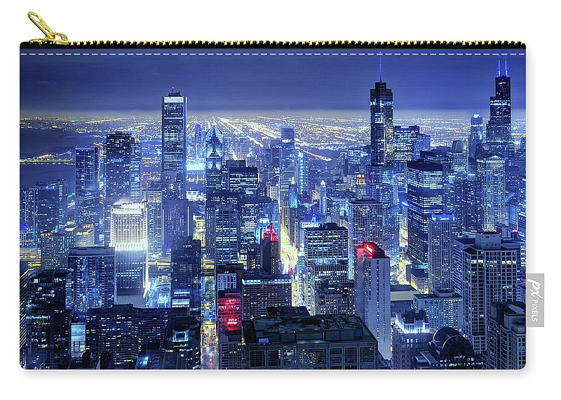 Tranquility Carry-all Pouch featuring the photograph Chicago by Thomas Kurmeier
