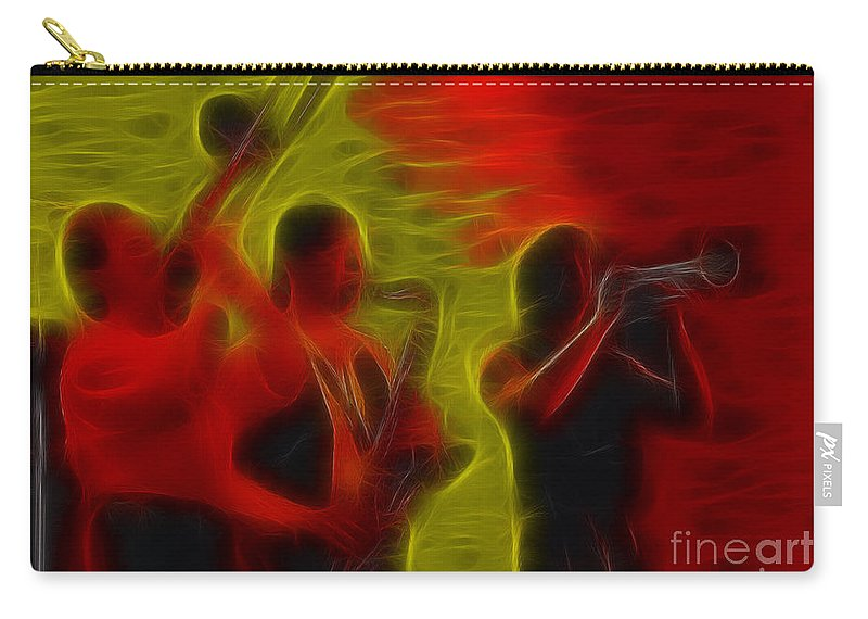 Chicago Carry-all Pouch featuring the photograph Chicago19-horns-fractal-1 by Gary Gingrich Galleries