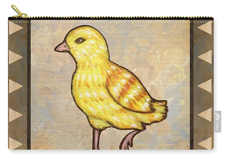 Chick Carry-all Pouch featuring the painting Chick Two by Linda Mears