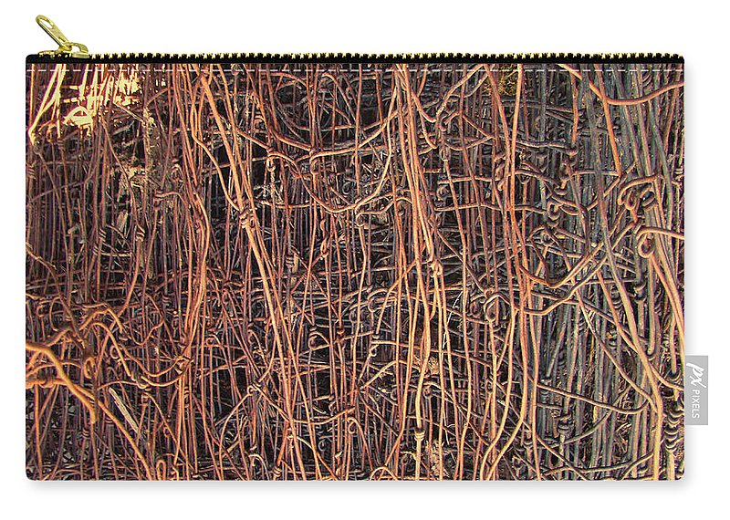 Chicken Wire Carry-all Pouch featuring the photograph Chickenwire Rusty by Cathy Anderson
