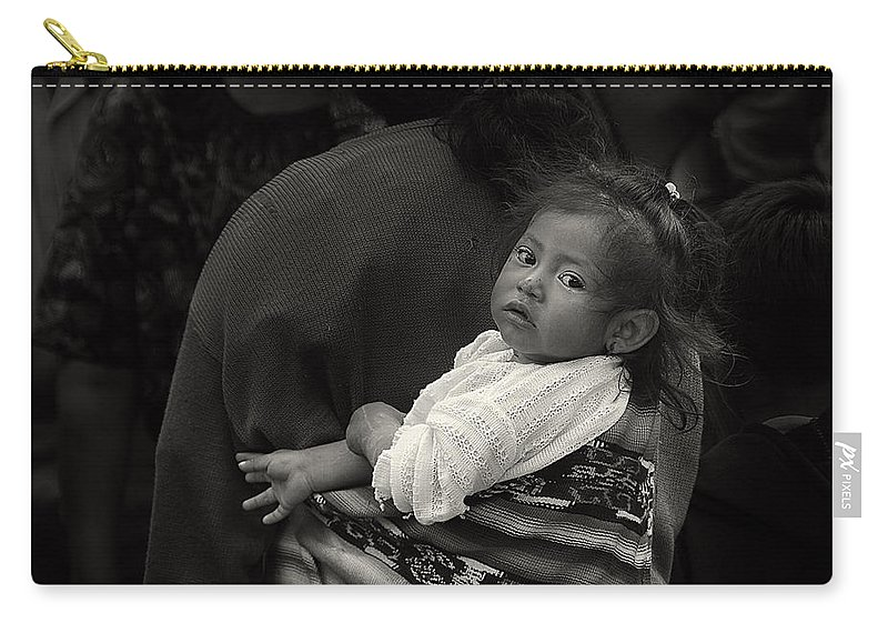 Chichicastenango Carry-all Pouch featuring the photograph Child Of Chichicastenango by Tom Bell