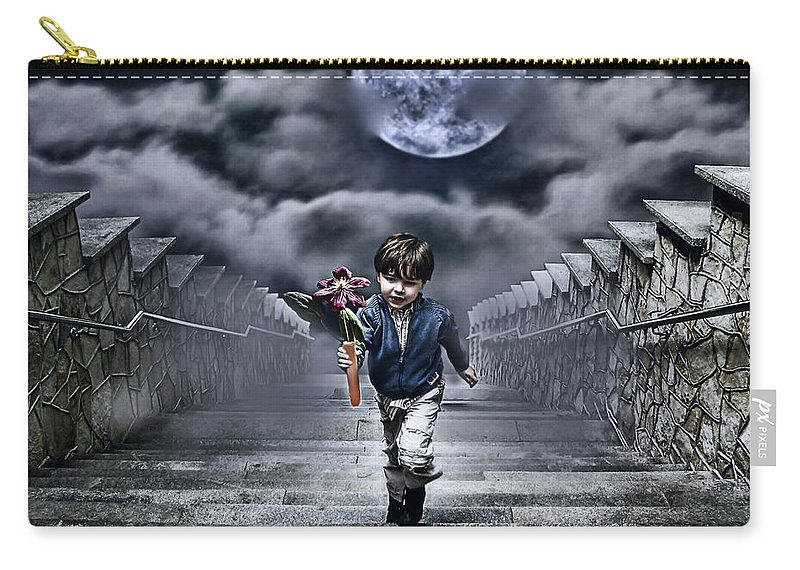 Boy Carry-all Pouch featuring the photograph Child Of The Moon by Joachim G Pinkawa