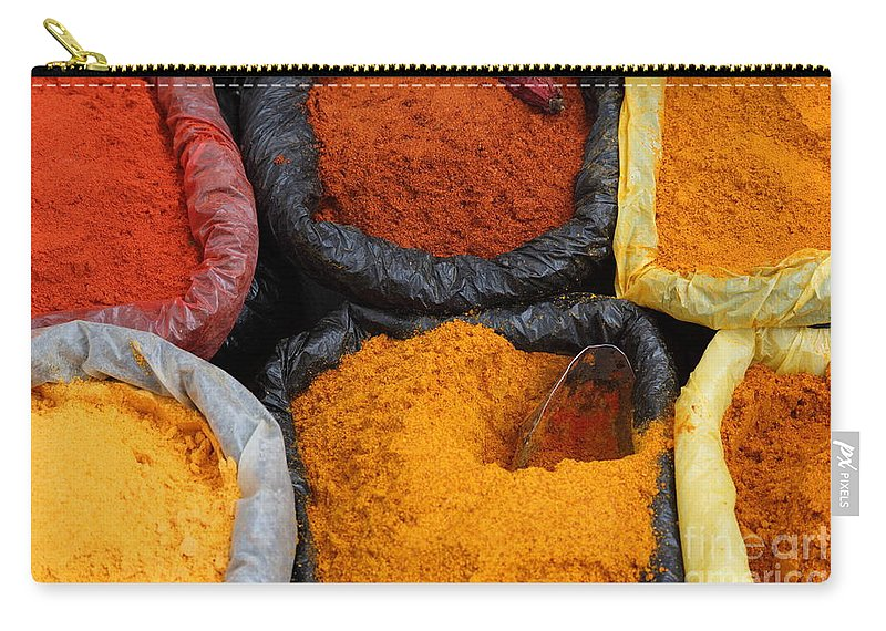 Chili Carry-all Pouch featuring the photograph Chilli Powders 2 by James Brunker