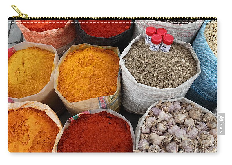 Chilli Carry-all Pouch featuring the photograph Chilli Powders 4 by James Brunker