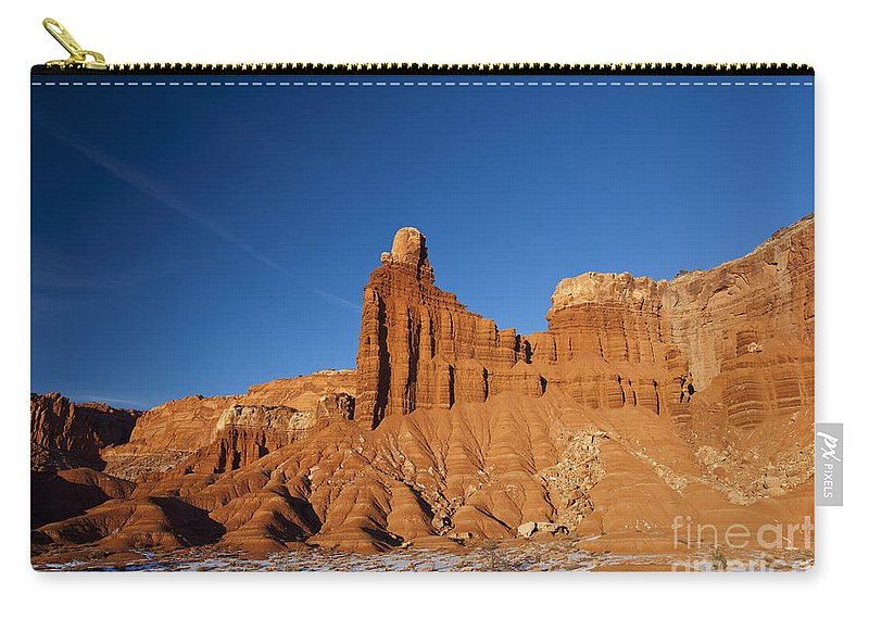 Capitol Reef Carry-all Pouch featuring the photograph Chimney Rock Capitol Reef National Park Utah by Jason O Watson