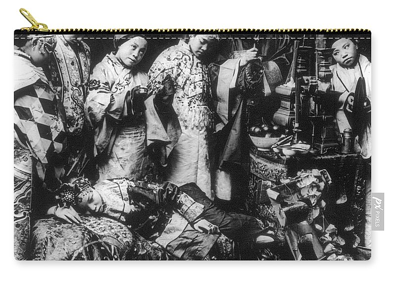 1919 Carry-all Pouch featuring the photograph China: Ceremony, C1919 by Granger