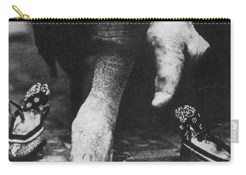 1890s Carry-all Pouch featuring the photograph China: Lily Foot, C1900 by Granger