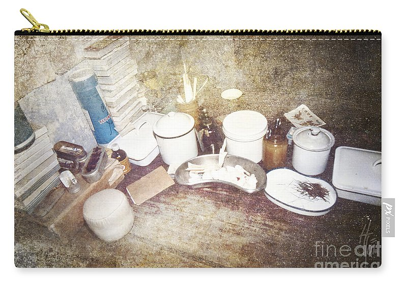 China Carry-all Pouch featuring the photograph Chinese Doctor's Devices by Heiko Koehrer-Wagner