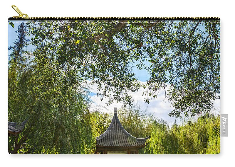 Chinese Garden Carry-all Pouch featuring the photograph Chinese Garden Sun by Jamie Pham