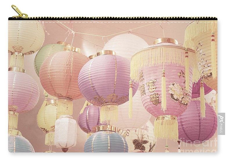 Romantic Carry-all Pouch featuring the photograph Chinese Lanterns by Cindy Garber Iverson