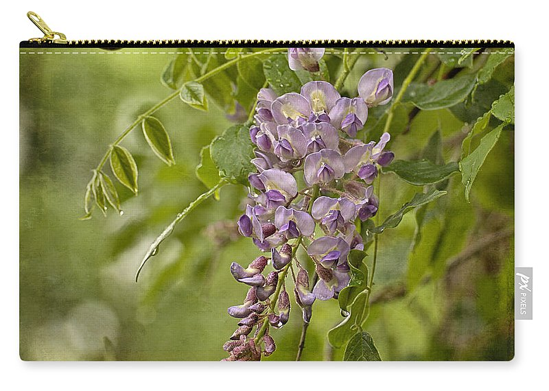 Wisteria Carry-all Pouch featuring the photograph Chinese Wisteria by Mel Hensley