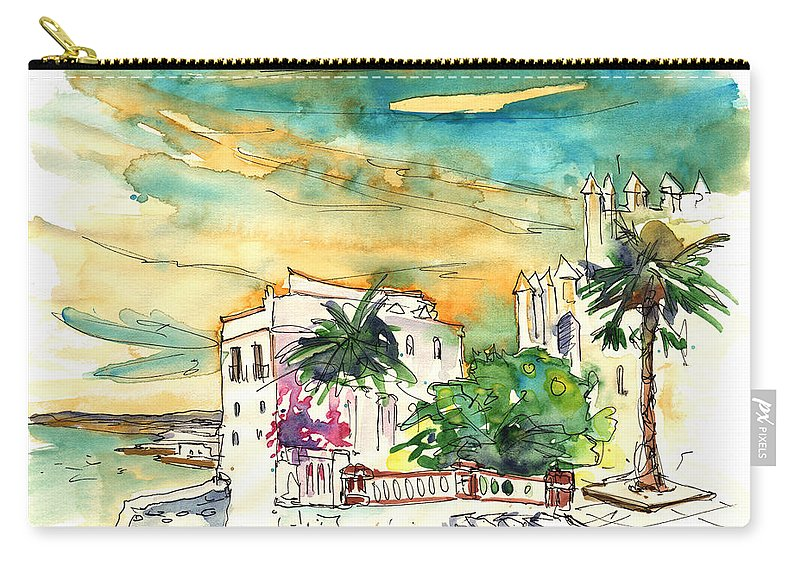 Travel Carry-all Pouch featuring the painting Chipiona Spain 04 by Miki De Goodaboom