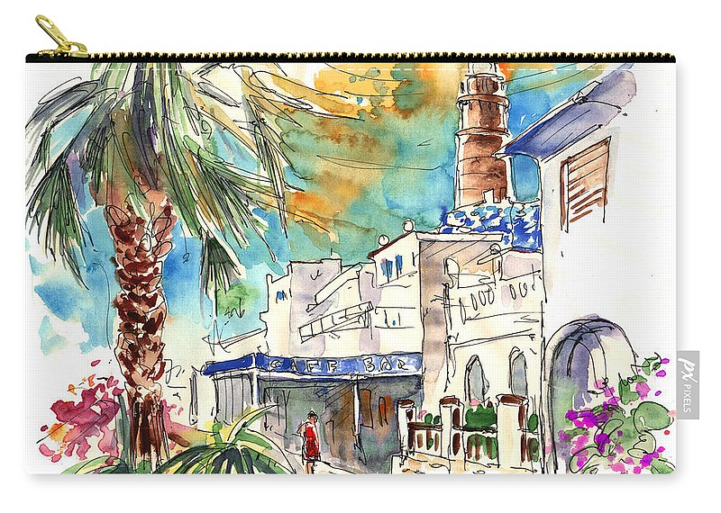 Travel Carry-all Pouch featuring the painting Chipiona Spain 05 by Miki De Goodaboom