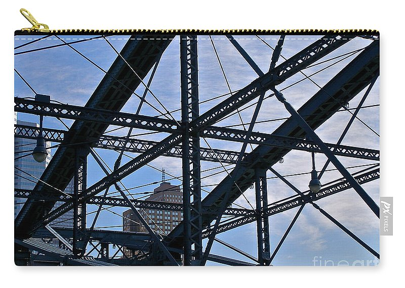 Pittsburgh Carry-all Pouch featuring the photograph Choas In The City by LeLa Becker