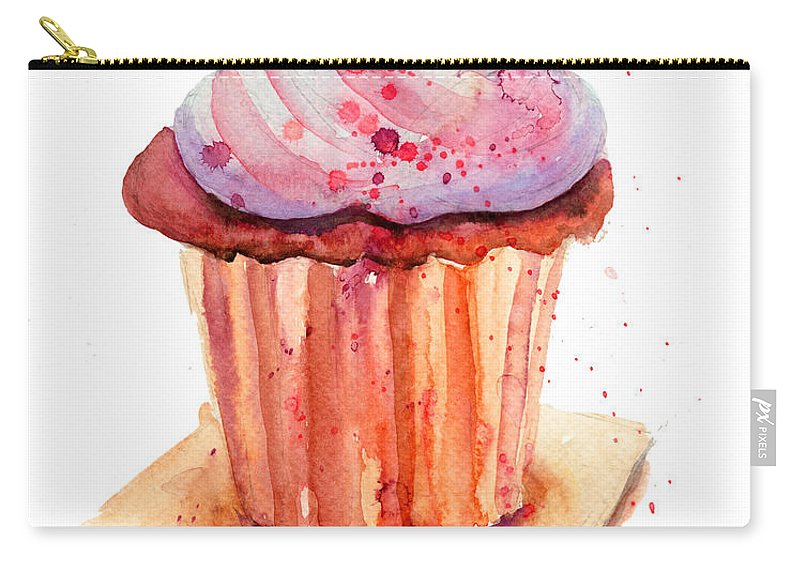Gourmet Carry-all Pouch featuring the painting Chocolate Cake by Regina Jershova