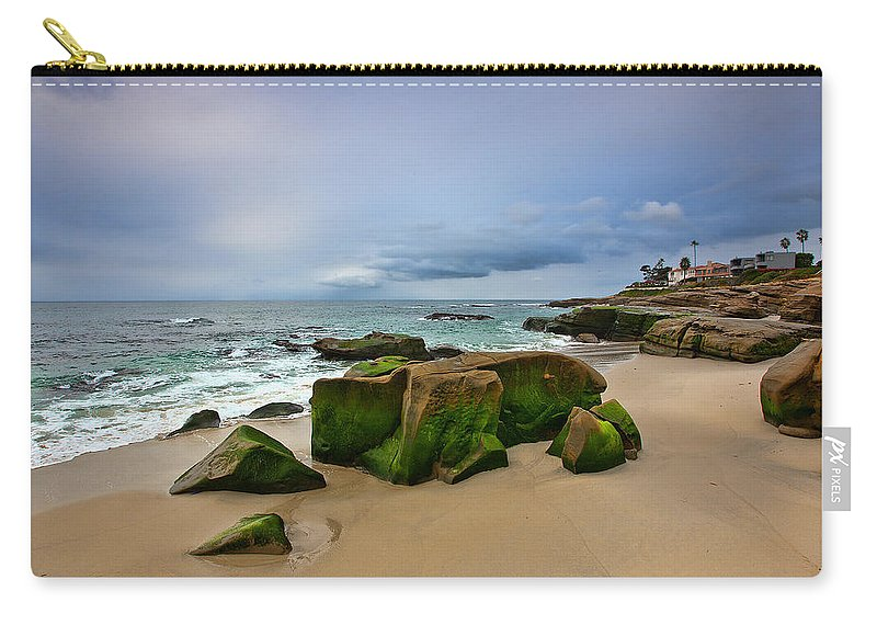 Beach Carry-all Pouch featuring the photograph Chris's Rock 2013 by Peter Tellone