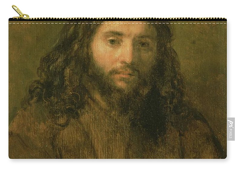 Bust Carry-all Pouch featuring the painting Christ, C.1656 by Rembrandt Harmensz. van Rijn