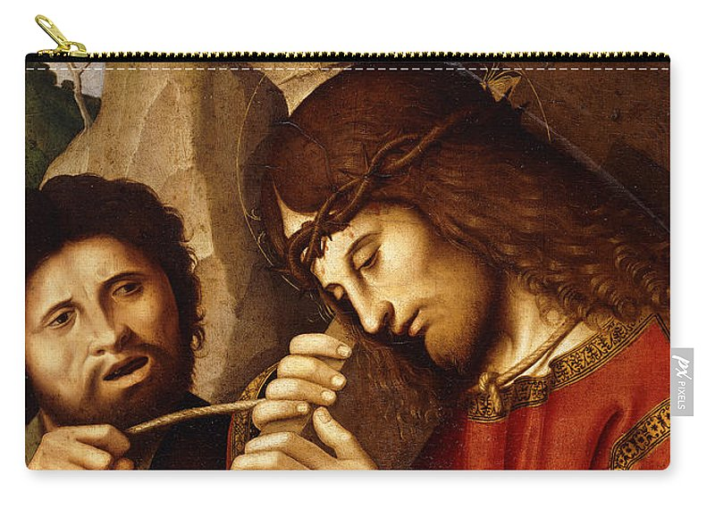 Son Of God Carry-all Pouch featuring the painting Christ Carrying The Cross by Marco Palmezzano