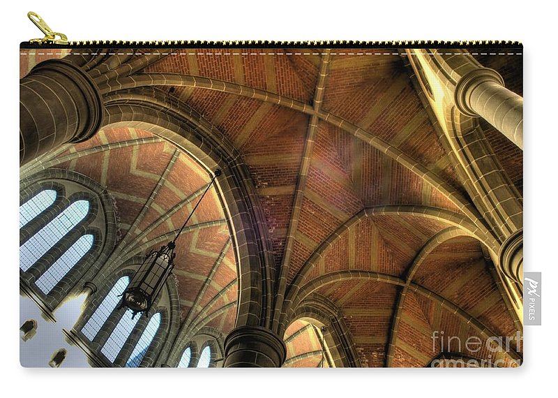 Cathedral Carry-all Pouch featuring the photograph Christ Church Cathedral Roof Detail by Bob Christopher