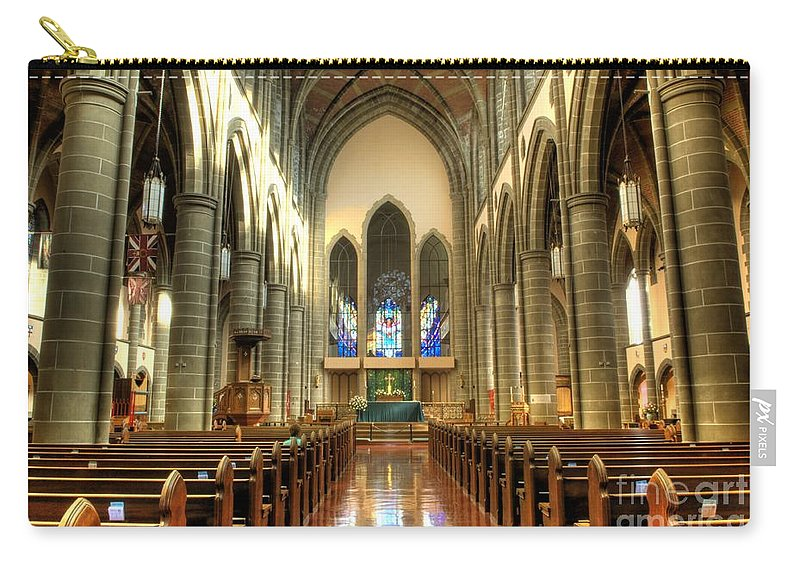 Cathedral Carry-all Pouch featuring the photograph Christ Church Cathedral Victoria British Columbia by Bob Christopher