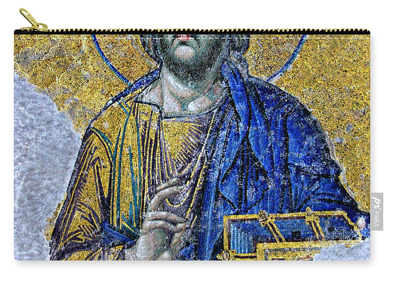 Christ Pantocrator Carry-all Pouch featuring the photograph Christ Pantocrator II by Stephen Stookey